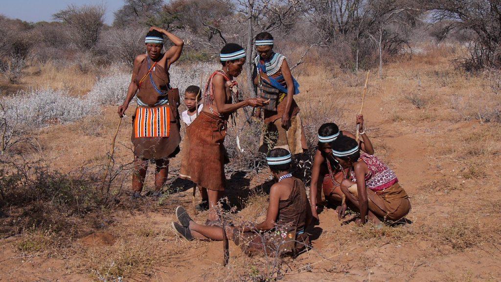 botswana, bushman, group